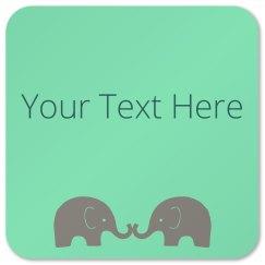 Mint Green Elephants