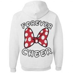 Cute Forever Cheerleader Bow Hoodie