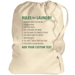 Custom Laundry Bag Instructions