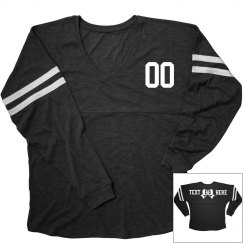 Trendy Custom Football Bow Shirt