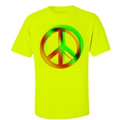 Neon Colored Crossed PEACE signs