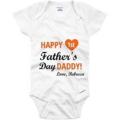Happy First Father's Day Onesies
