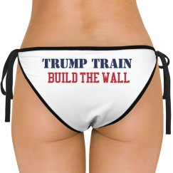 TrumpTrain Build the Wall Bikini