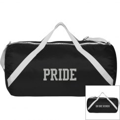 'Pride on One Hundo' Duffle Bag - Black/Silver