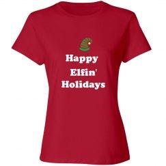 Happy Elfin' Holidays tee