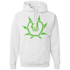 White & Green Munch Hoodie