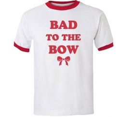Bad to the Bow Cheer Ringer Tee