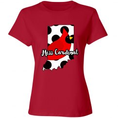 Ladies Relaxed Fit Cotton Basic Tee (Red)
