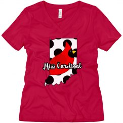 Ladies Relaxed Fit V Neck Tee