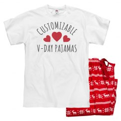 Customizable Valentine's Day PJ's