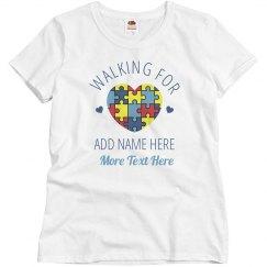 Custom Autism Support Puzzle Piece