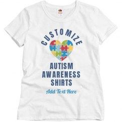 Custom Autism Puzzle Blub