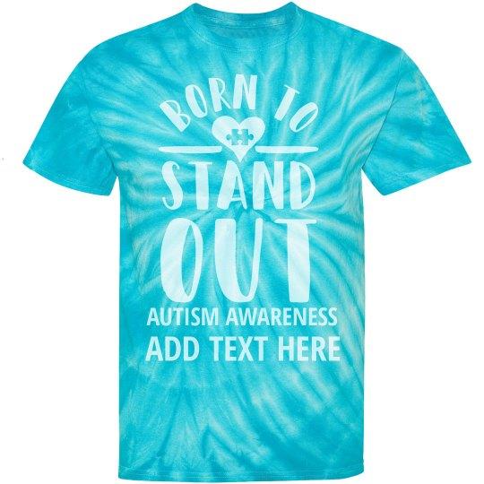 eb0ffdaa Custom Autism Awareness Puzzle Unisex Tie-Dye Cyclone Pinwheel T-Shirt