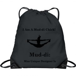 I AM A MUD-DI CHICK ICON DRAWSTRING BAG