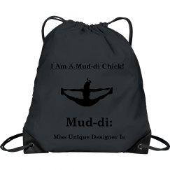 I AM A MUD-DI CHICK ICON DRAWSTRING BAG