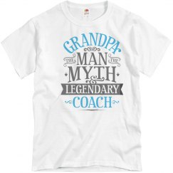 Grandpa Man Myth Legendary Coach