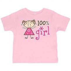 100% Girl Stick Figure