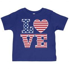 American Flag LOVE