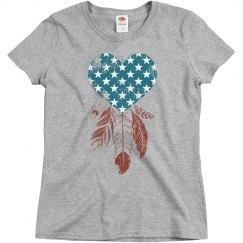 Patriotic Heart Dreamcatcher