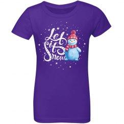 Let It Snow Christmas Snowman