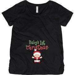 Baby Santa 1st Christmas Pregnancy Announcement