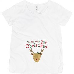 Reindeer 1st Christmas Pregnancy Announcement