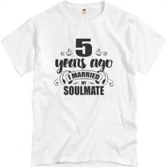 5th Wedding Anniversary 5 Years Married Soulmate