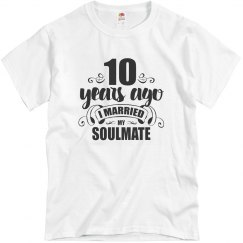 10th Wedding Anniversary 10 Years Married Soulmate