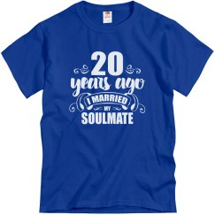 20th Wedding Anniversary 20 Years Married Soulmate