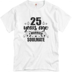 25th Wedding Anniversary 25 Years Married Soulmate