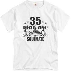 35th Wedding Anniversary 35 Years Married Soulmate