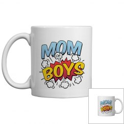 Mom of Boys Mother's Day Comic Book Style