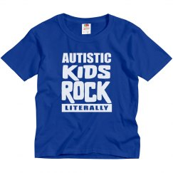 Autism Awareness Autistic Kids Rock Literally