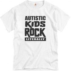 Autism Awareness Autistic Kids Rock Literally