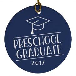 2017 Preschool Graduate Graduation Ornament