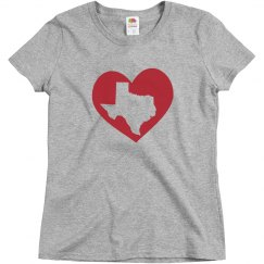 Texas In My Heart State Pride Texan T-Shirt