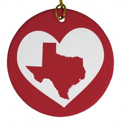 Texas In My Heart State Pride Texan Ornament
