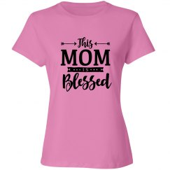 This Mom Is Blessed Christian T-Shirt