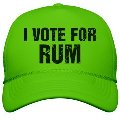 Neon Vote For Rum