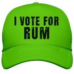 Neon Vote For Rum