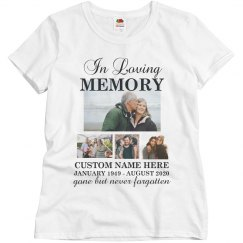 In Loving Memory Collage Memorial Shirt
