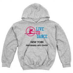 LIVE TO DANCE GREY HOODIE KIDS