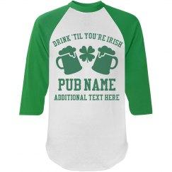 Custom Irish Pub Name Shirts