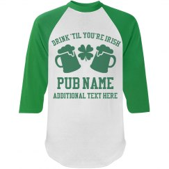 Custom Irish Pub Name Shirts