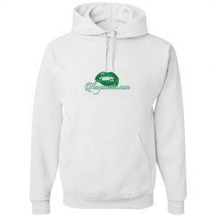 White & green hoodie