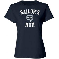 Proud sailor's mom