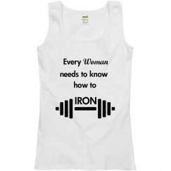 Woman Needs to Know How to Iron