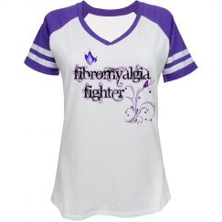 Fibromyalgia Fighter Sporty Tee