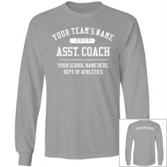 Custom Asst. Coach Long Sleeve