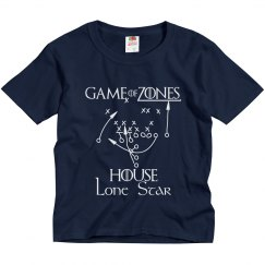 Game of Zones House Football Youth Tee